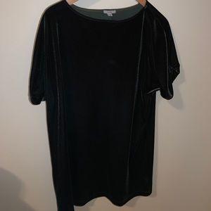 Urban Outfitters Velvet Mini Dress (Dark Green)